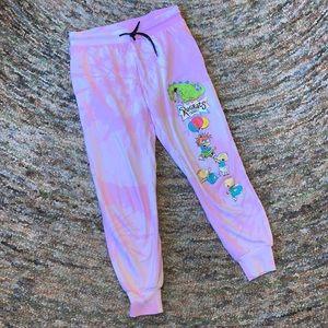 Rugrats Tie Dye Pink Sweatpants Junior Medium